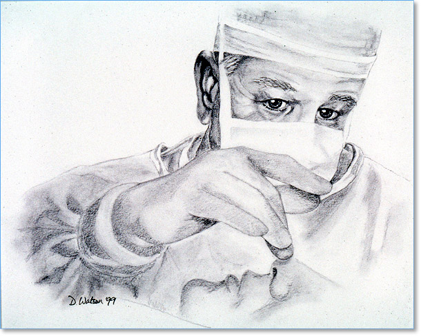 Drawing of Surgeon by Dr. Deborah Watson